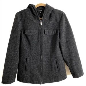 Braetan wool blend zip winter coat. Medium